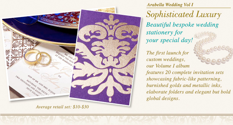 Damask Indian Wedding Invitations fom Arabella